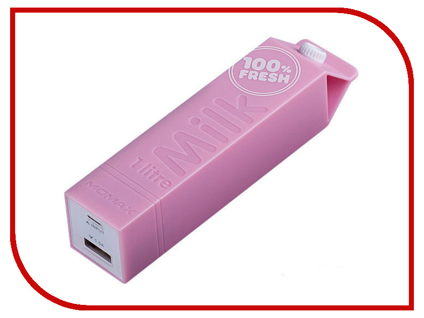 Аккумулятор MOMAX iPower Milk External 2600mAh Pink<br>
