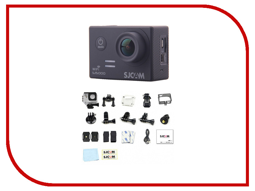 Экшн-камера SJCAM SJ5000 WiFi Black экшн камера sjcam sj5000x elite yellow