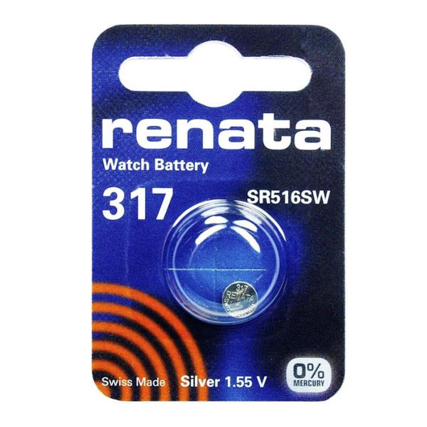 купить Батарейка R317 - Renata SR516SW (1 штука) по цене 87 рублей