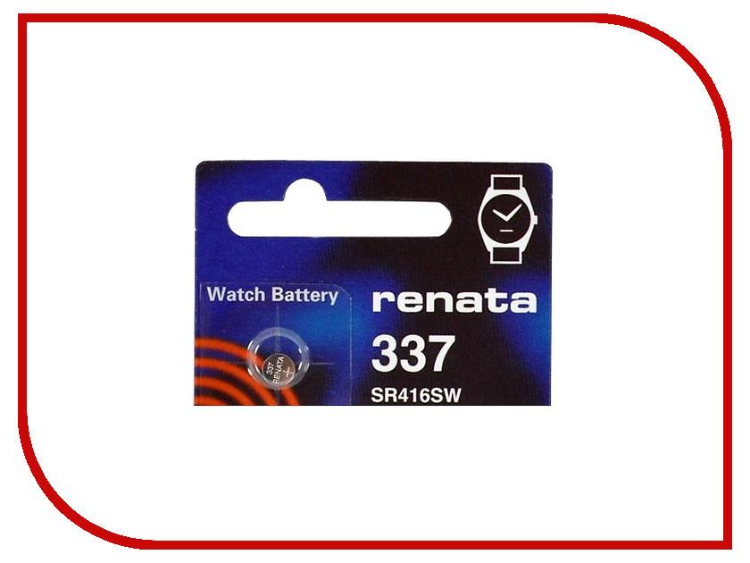 Батарейка R337 - Renata SR416SW (1 штука) renata cr2032 bl 1