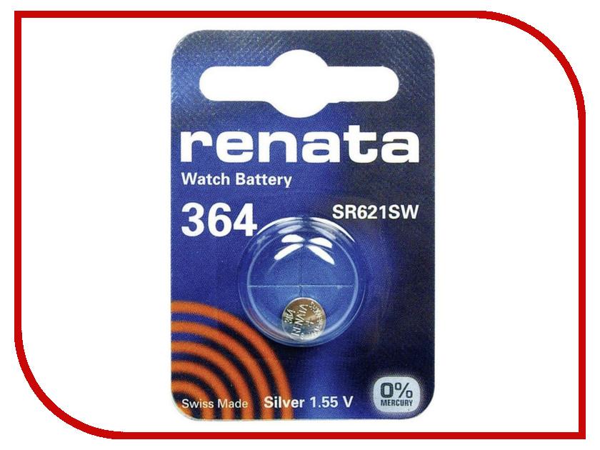 Батарейка R364 - Renata SR621SW (1 штука)  цена