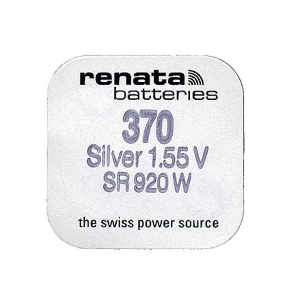 Батарейка R370 - Renata SR920W (1 штука) батарейка r399 renata sr927w 1 штука