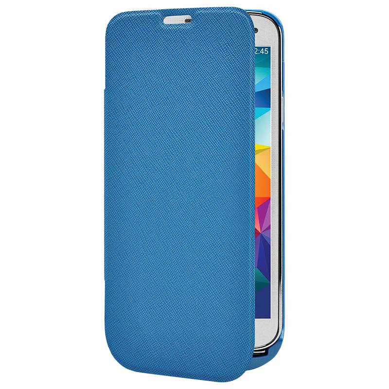 Аксессуар Чехол-аккумулятор Samsung Galaxy S5 InterStep 2800 mAh Blue IS-AK-PCS5FLPBK-000B201
