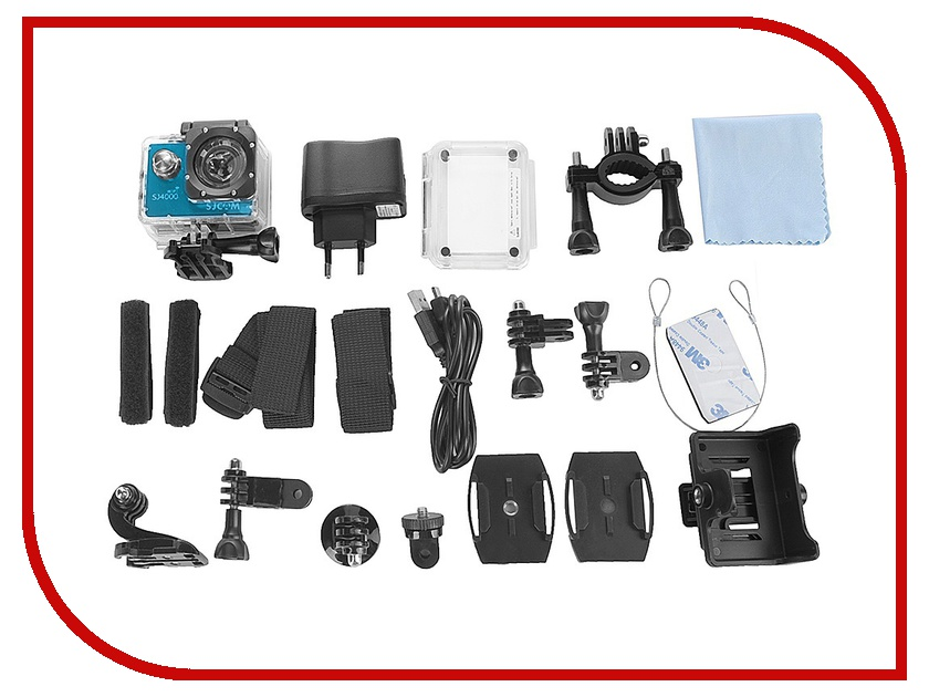 Экшн-камера SJCAM SJ4000 Wi-Fi Blue sjcam sj5000 plus black экшн камера