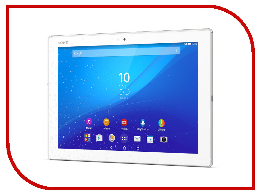 Планшет Sony Xperia Tablet Z4 32Gb LTE SGP771/W White Qualcomm Snapdragon 810 2 Ghz/3072Mb/32Gb/Wi-Fi/3G/Bluetooth/Cam/10.1/2560x1600/Android<br>