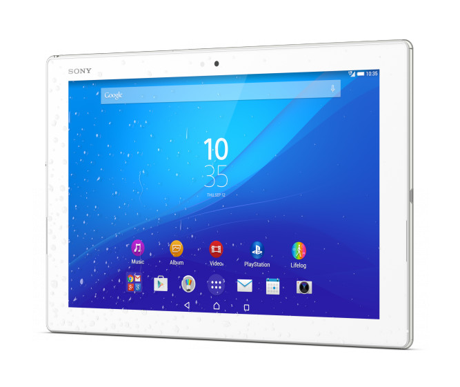 Планшет Sony Xperia Tablet Z4 32Gb LTE SGP771/W White Qualcomm Snapdragon 810 2 Ghz/3072Mb/32Gb/Wi-Fi/3G/Bluetooth/Cam/10.1/2560x1600/Android