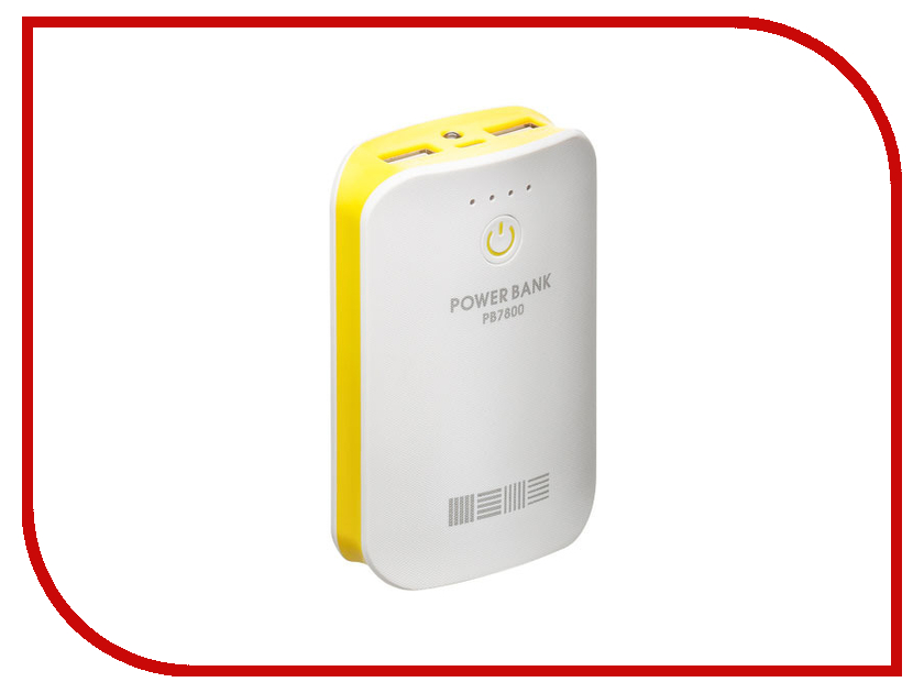 ����������� InterStep PB7800 White-Yellow 7800 mAh