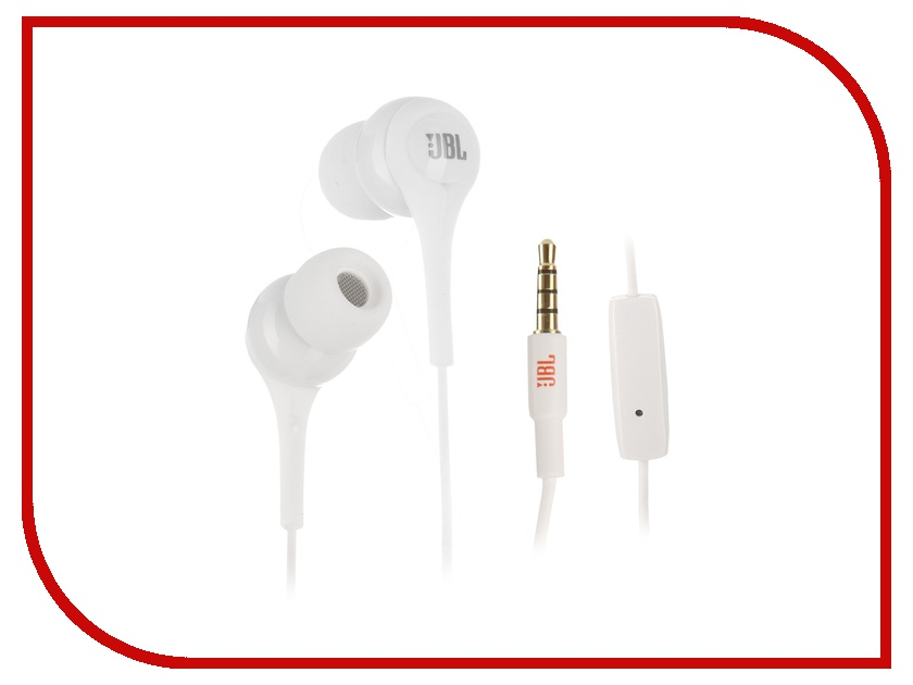 Гарнитура JBL T200A White<br>