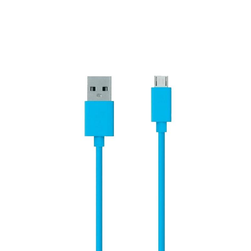 Аксессуар ZAKKA Fabric USB 2.0 - Micro USB 1m ONN2-L6BL-001 Blue
