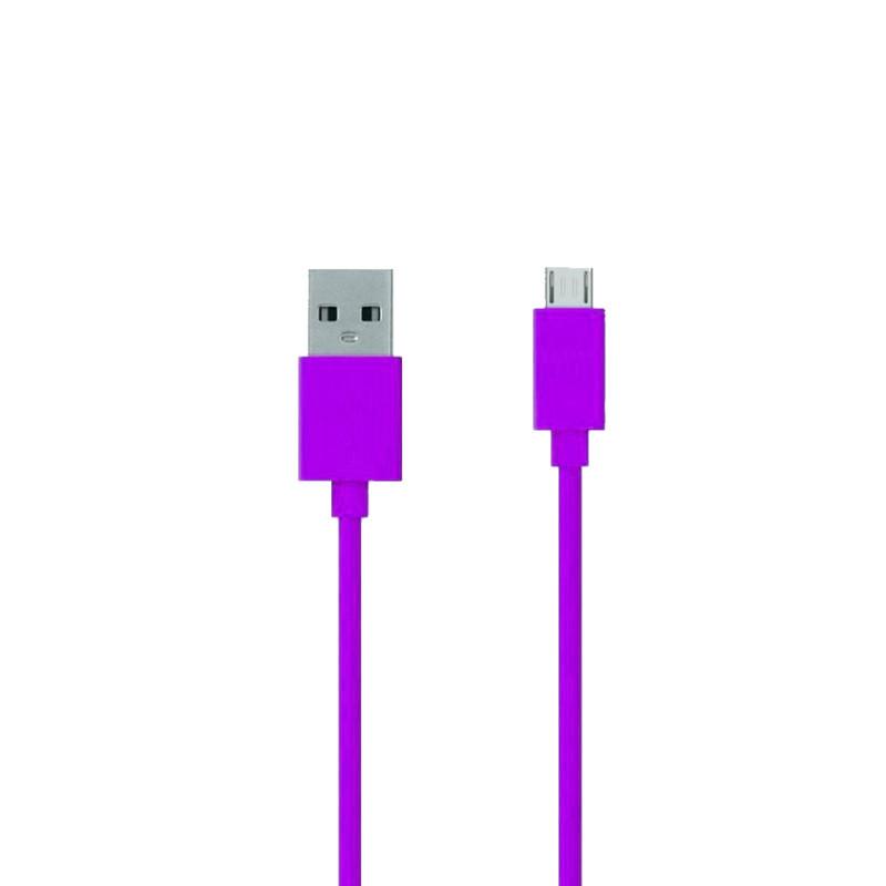 Аксессуар ZAKKA Fabric USB 2.0 - Micro USB 1m ONN2-L6PL-001 Purple