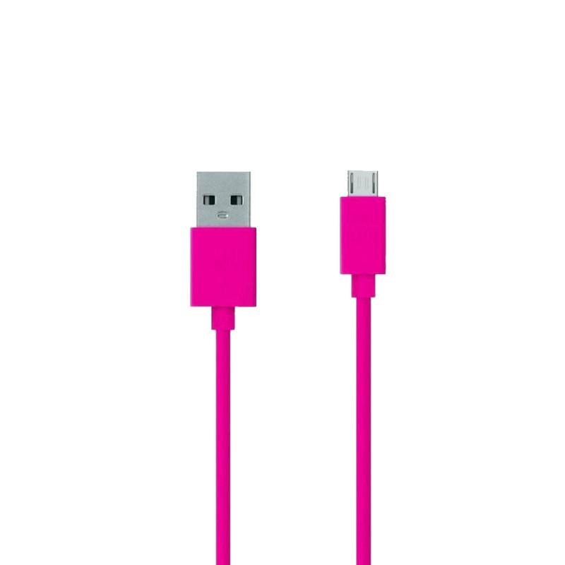 Аксессуар ZAKKA Fabric USB 2.0 - Micro USB 1m ONN2-L6PI-001 Pink