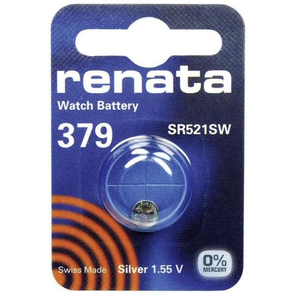 Батарейка R379 - Renata SR521SW (1 штука) батарейка r399 renata sr927w 1 штука