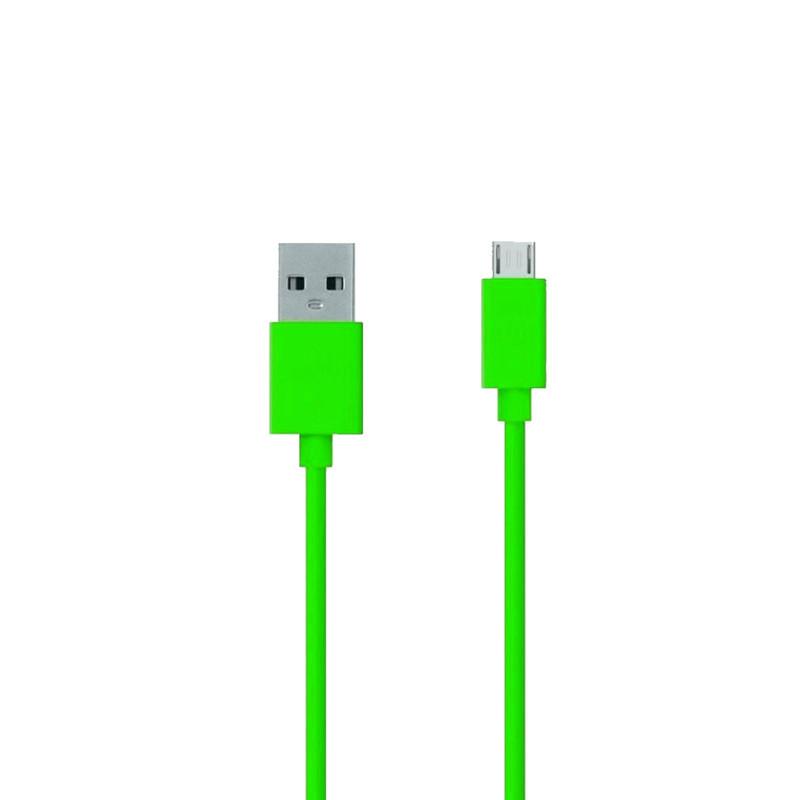 Аксессуар ZAKKA Fabric USB 2.0 - Micro USB 1m ONN2-L6GR-001 Green
