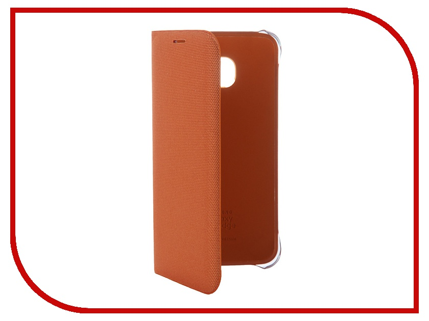 Аксессуар Чехол Samsung SM-G925 Galaxy S6 Edge Flip Wallet Fabric Orange EF-WG925BOEGRU<br>