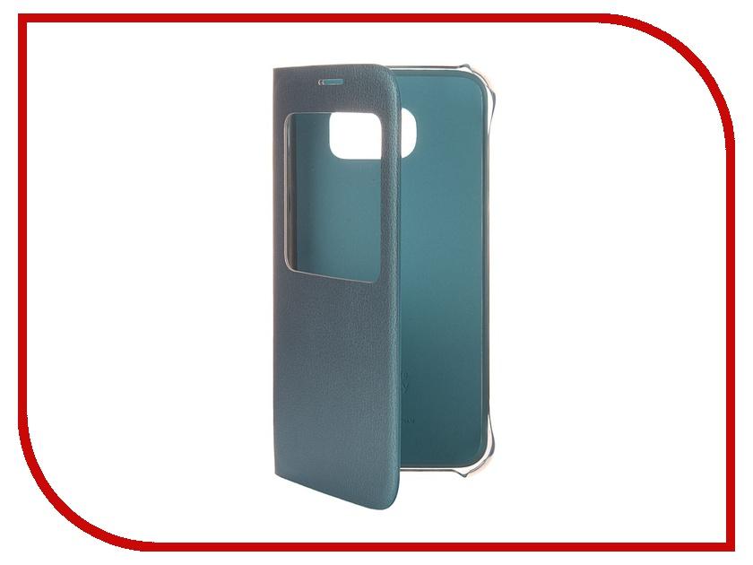 Аксессуар Чехол Samsung SM-G920 Galaxy S6 S View PU Blue EF-CG920PLEGRU аксессуар чехол флип samsung galaxy s6 sm g920 brera slim blue 47543