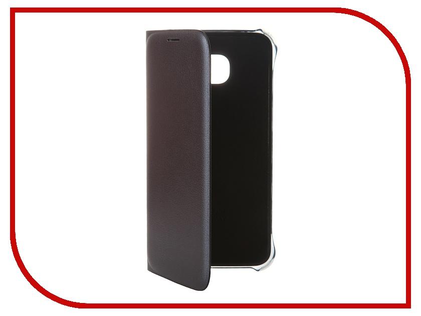 Аксессуар Чехол Samsung SM-G920 Galaxy S6 Flip Wallet PU Black EF-WG920PBEGRU аксессуар чехол флип samsung galaxy s6 sm g920 brera slim blue 47543