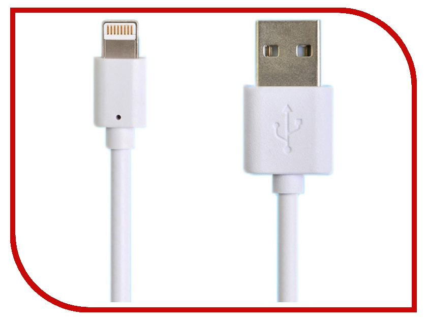 Аксессуар Henca USB to Lightning для iPhone 5 / iPad 4 / new iPod 2m White 12167