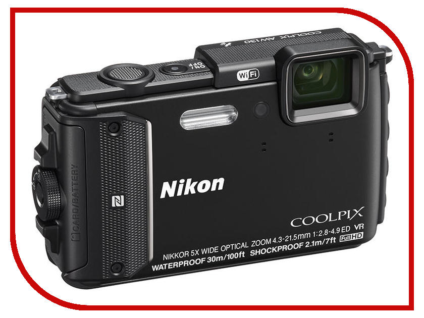 Фотоаппарат Nikon AW130 Coolpix Black<br>