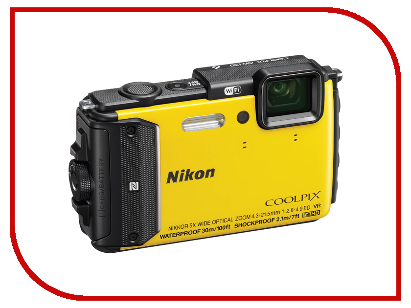 Фотоаппарат Nikon AW130 Coolpix Yellow