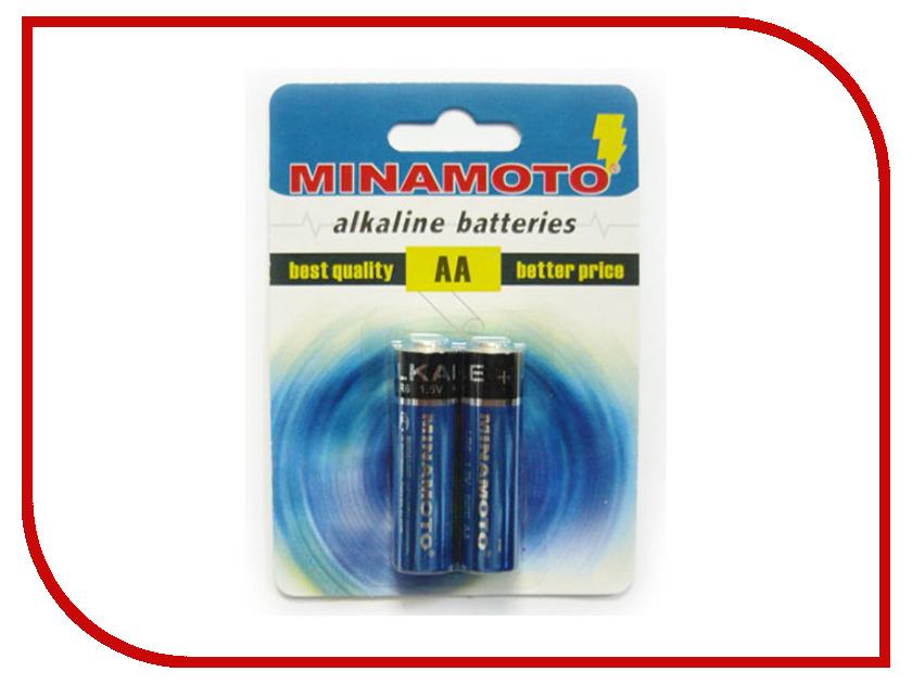 Батарейка AA - MINAMOTO Alkaline 1.5V LR6 BL2 (2 штуки)