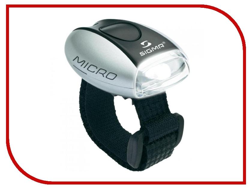 Велофонарь Sigma Micro Silver-White - фонарь 17240