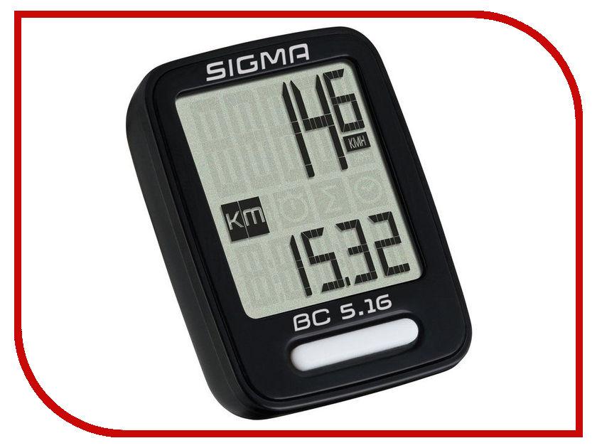 Велокомпьютер Sigma TopLine BC 5.16 05160 велокомпьютер sigma bc 400 baseline цвет черный 4 функции