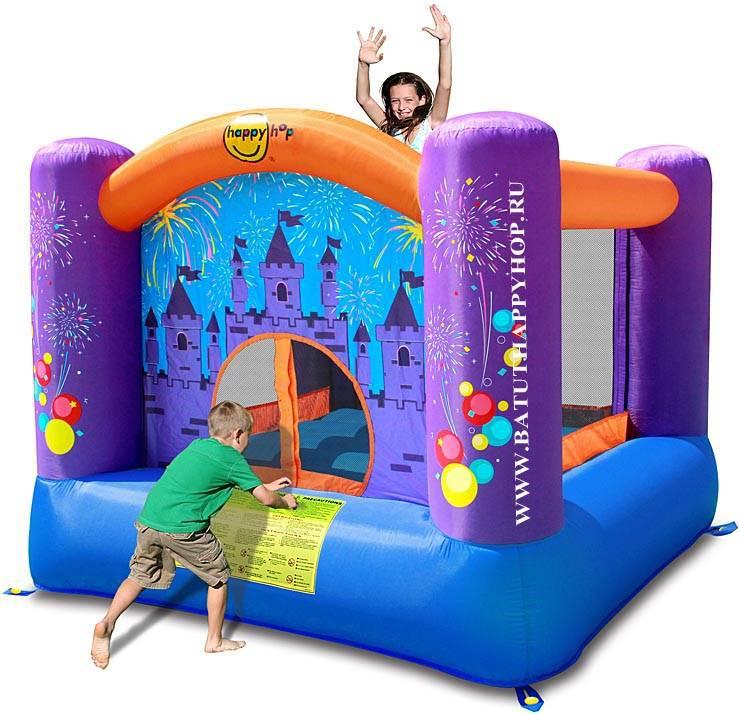 Батут Happy Hop Феерверк 9001F надувной батут неожиданные препятствия 9163 happy hop