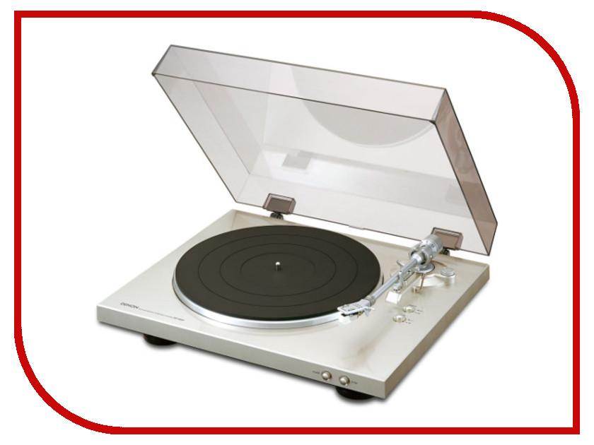 Проигрыватель виниловых дисков Denon DP-300F Silver колонки denon sc m41 ас scm41bkem