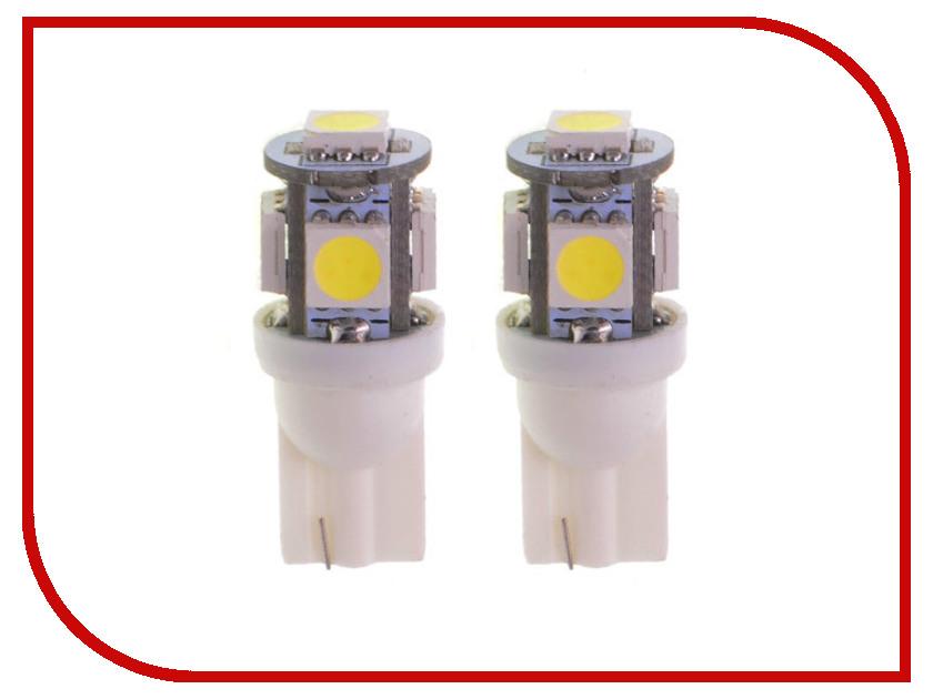 Лампа DLED T10 W5W 5 SMD 5050 262 (2 штуки)