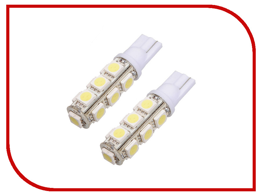 Лампа DLED T10 W5W 13 SMD 5050 469 (2 штуки)<br>