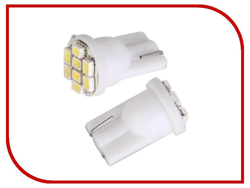 Лампа DLED T10 W5W 8 SMD 1210 597 (2 штуки)<br>
