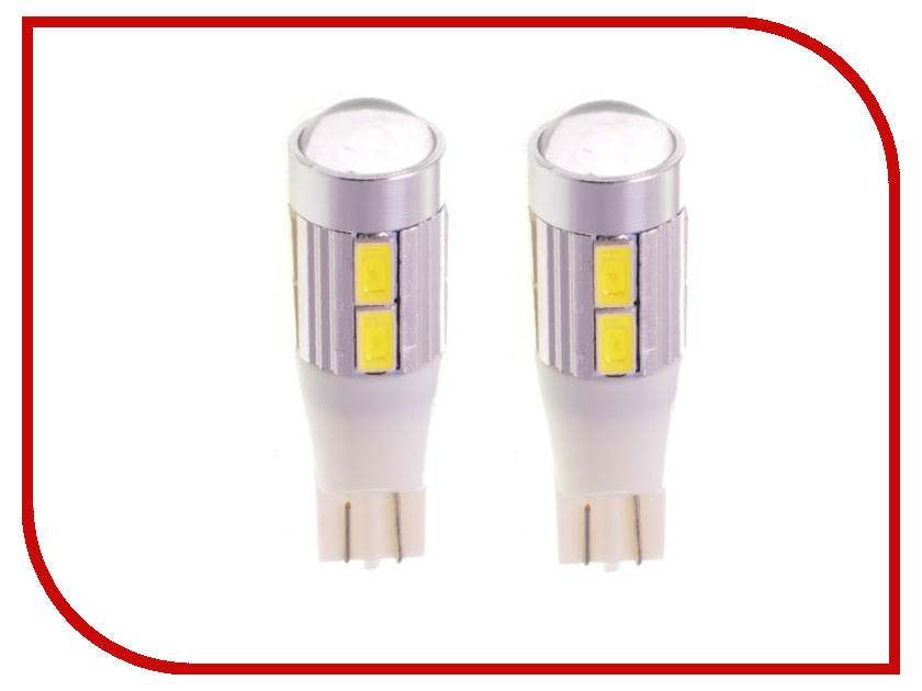 Лампа DLED T10 W5W 8 SMD 5630 + CREE + Линза 2172 (2 штуки)<br>