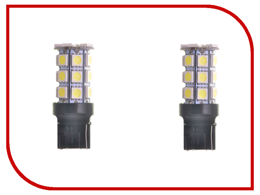 Лампа DLED T20 W21/5W 7443 W3x16Q 18 SMD 5050 1022 (2 штуки)<br>