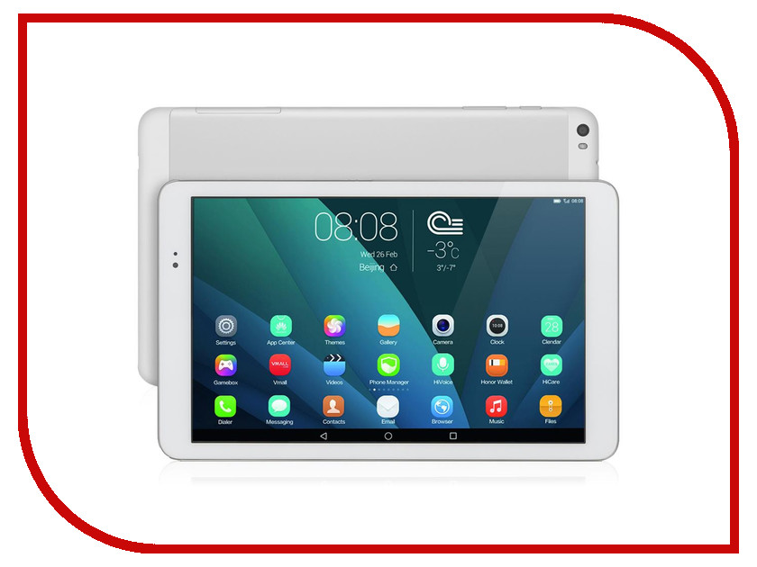 Планшет Huawei MediaPad T1 10 LTE 16Gb T1-A21L Silver (Qualcomm MSM8916 1.2 GHz/1024Mb/16Gb/3G/LTE/Wi-Fi/Bluetooth/Cam/9.6/1280x800/Android) lcd display and with touch screen screen for huawei mediapad t1 7 0 701 701u 701ua t1 701 t1 701ua t1 701u digitizer assembly
