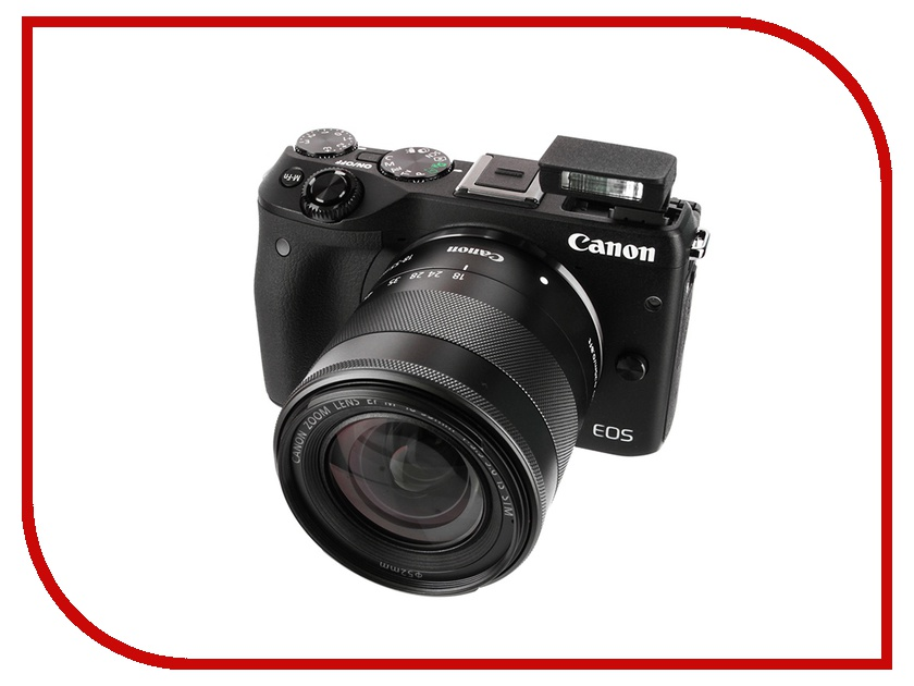 Фотоаппарат Canon EOS M3 Kit EF-M 18-55 IS STM Black*<br>