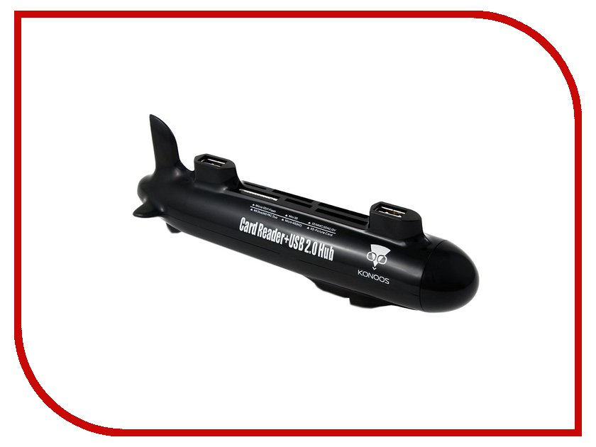 Карт-ридер Konoos UK-40 Подводная лодка USB 4-ports