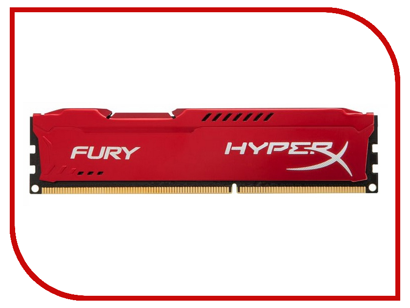 Картинка для Модуль памяти Kingston HyperX Fury Red Series DDR3 DIMM 1600MHz PC3-12800 CL10 - 4Gb HX316C10FR/4