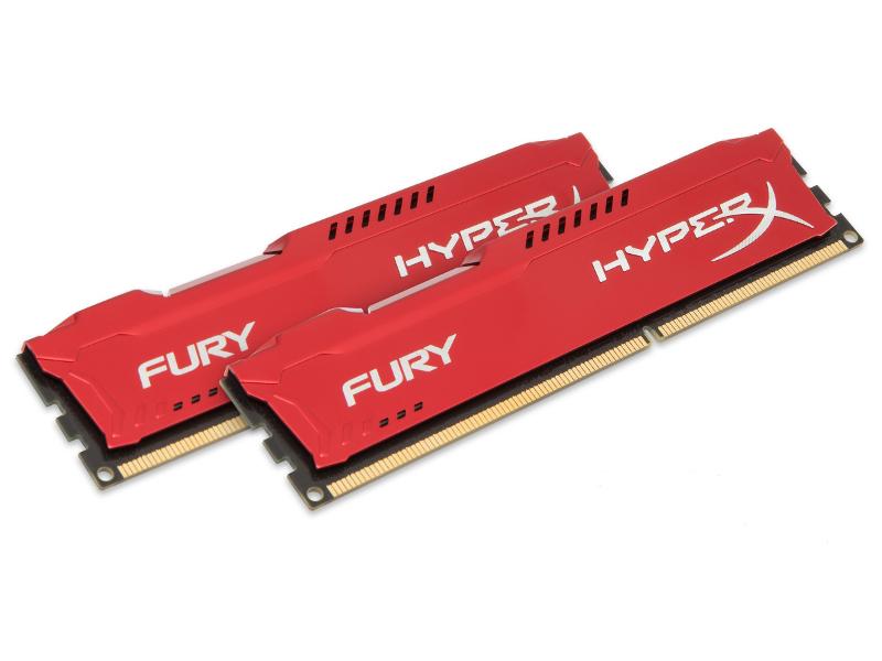 Модуль памяти HyperX Fury Red Series PC3-15000 DIMM DDR3 1866MHz CL10 - 8Gb KIT (2x4Gb) HX318C10FRK2/8