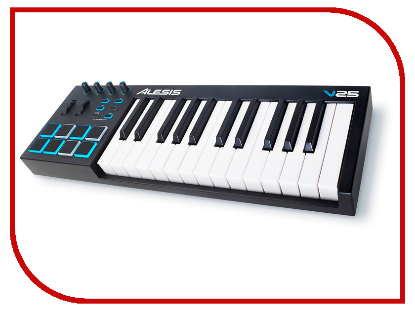 MIDI-клавиатура Alesis V25 midi контроллер alesis sample pad