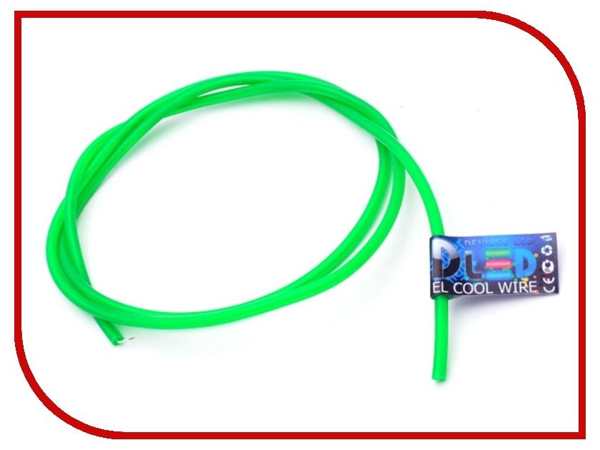 Аксессуар DLED Гибкий холодный неон EL 3,2mm 2m Green 2523