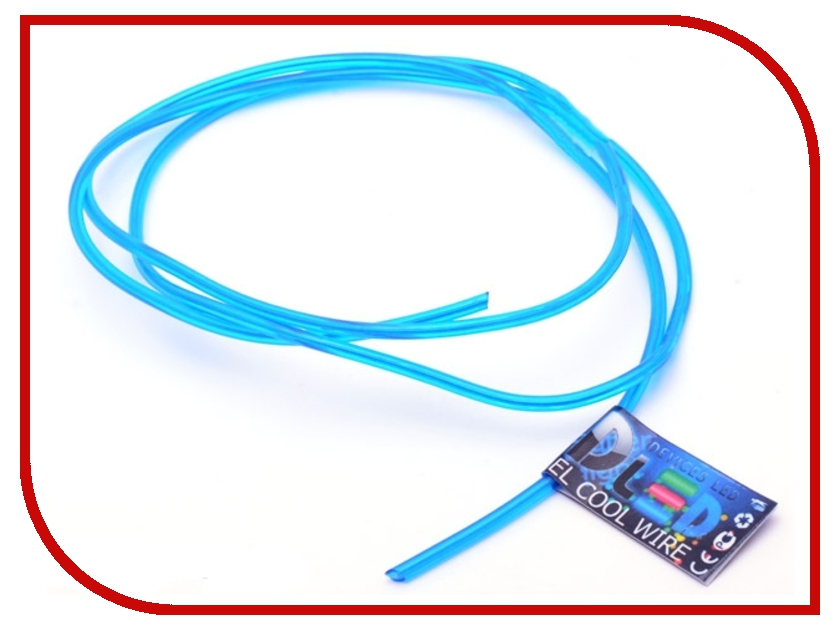 Аксессуар DLED Гибкий холодный неон EL 3,2mm 2m Blue 2525<br>