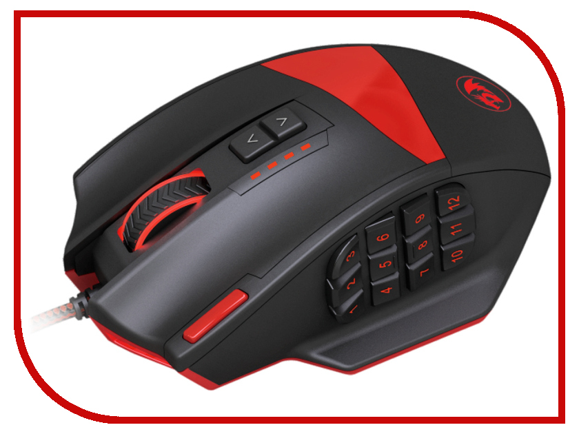 Мышь Redragon Foxbat 70346 Black-Red мышь redragon phoenix 70336 black red