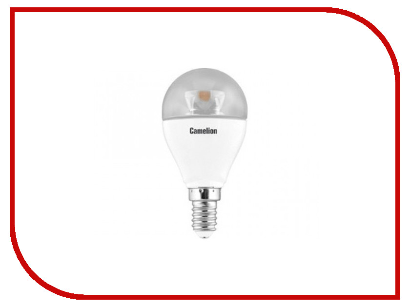 Лампочка Camelion LED7.5-G45-CL/830/E14<br>