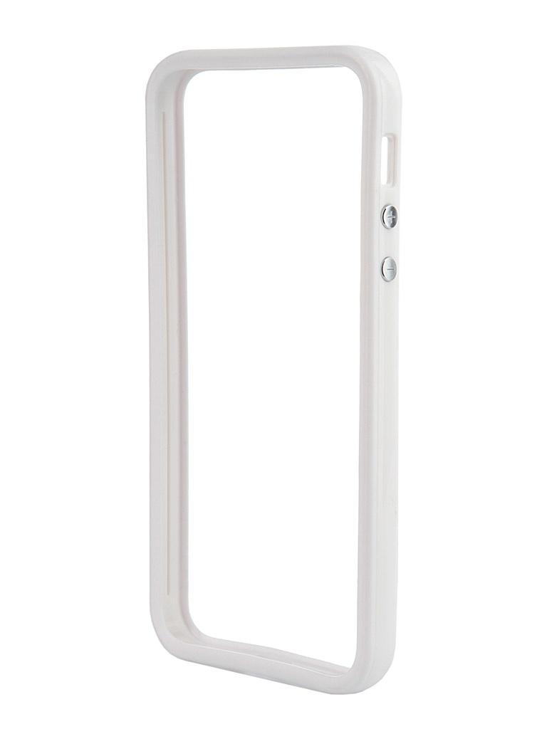 Аксессуар Чехол-бампер Nobby Practic BM-001 for iPhone 5C White