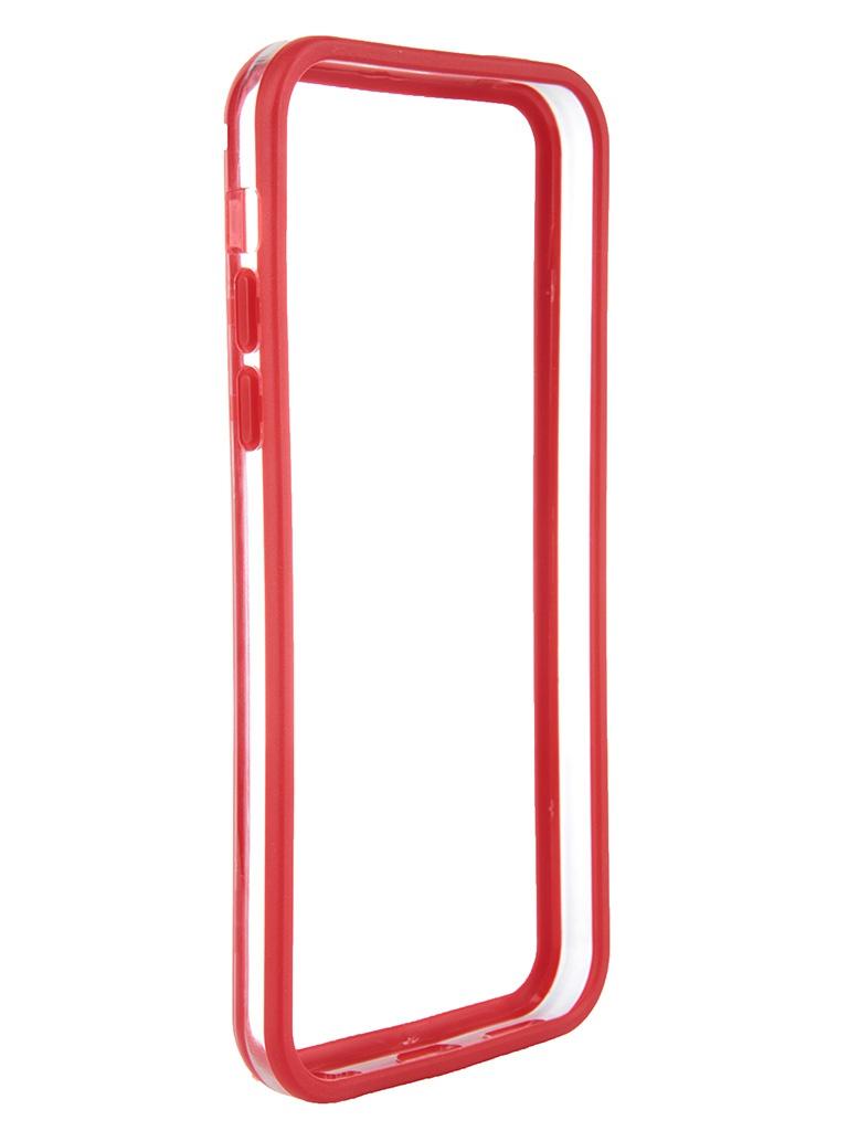 Аксессуар Чехол-бампер Nobby Practic BM-001 for iPhone 5C Red