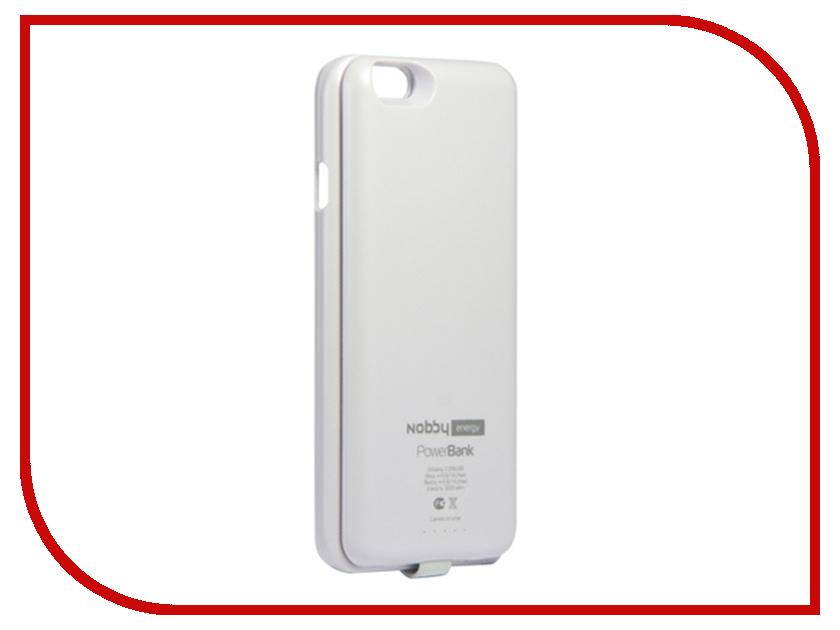 Аксессуар Чехол-аккумулятор Nobby Energy для iPhone 6 CCPB-001 White чехол универсальный nobby comfort wm 001 для телефонов s кожа черный