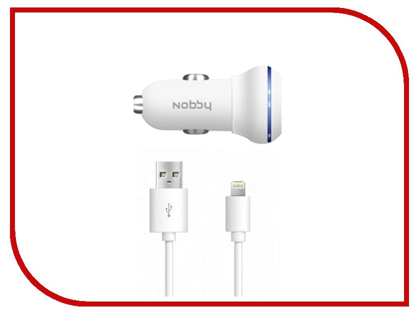 Зарядное устройство Nobby Energy 2xUSB 1A/2A + 8pin AC-002 White<br>