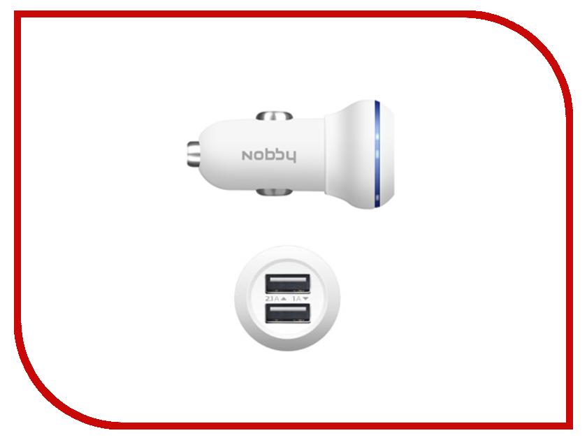 Зарядное устройство Nobby Energy 2xUSB 1A/2A AC-002 White<br>