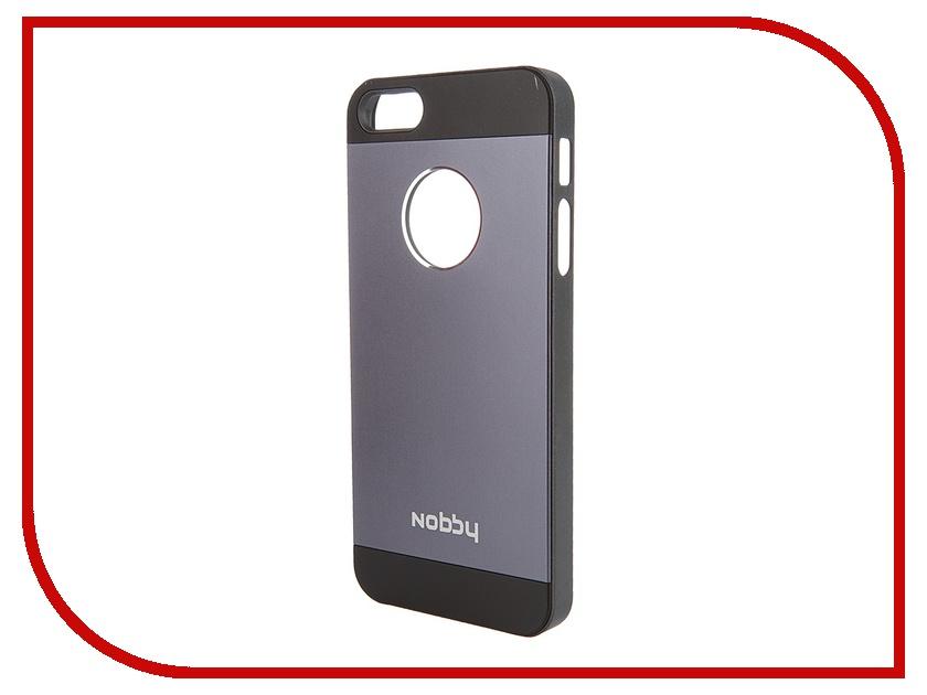 Аксессуар Чехол-накладка Nobby Practic CC-003 для iPhone 5/5S Black<br>