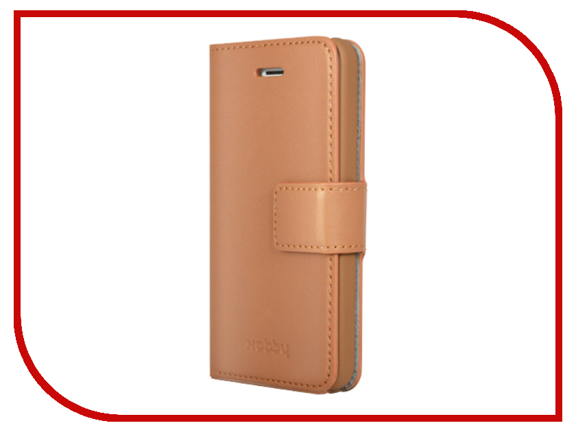 Аксессуар Чехол-книжка Nobby Comfort CB-002 для iPhone 5/5S Brown